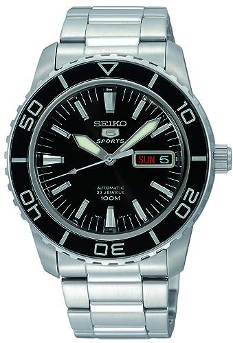 Seiko Reloj Analógico Automático para Hombre con Correa de Acero Inoxidable - SNZH55K1: Amazon.es: Relojes