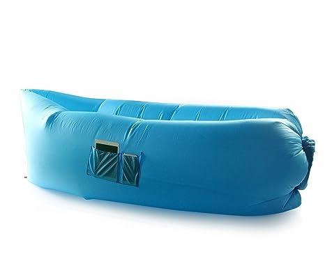 lazycloud cama de aire con 3 bolsillos y peg- Camping ...