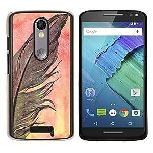 Stuss Case / Funda Carcasa protectora - Cuervo Negro naturaleza de la acuarela - Motorola Moto X3 3rd Generation