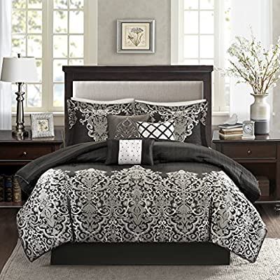 Madison Park MP10-1600 Vanessa 7 Piece Comforter Set - Madison Park vanessa 7 piece comforter set This is highly durable This is manufactured in China - comforter-sets, bedroom-sheets-comforters, bedroom - 61felxY1gxL. SS400  -