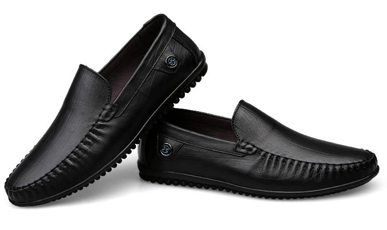 GTYMFH Vier Handgenäht Jahreszeiten Herren Erbsen Schuhe Handgenäht Vier Weiche Sohle Herren Lederschuhe Business Leder Herrenschuhe schwarz f9a5cf
