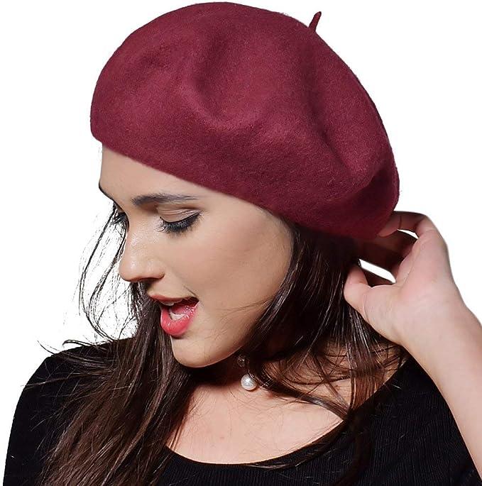 Sombrero Para Mujer De Boina Para Clásico Mujer Estilo Gorra Plana ...