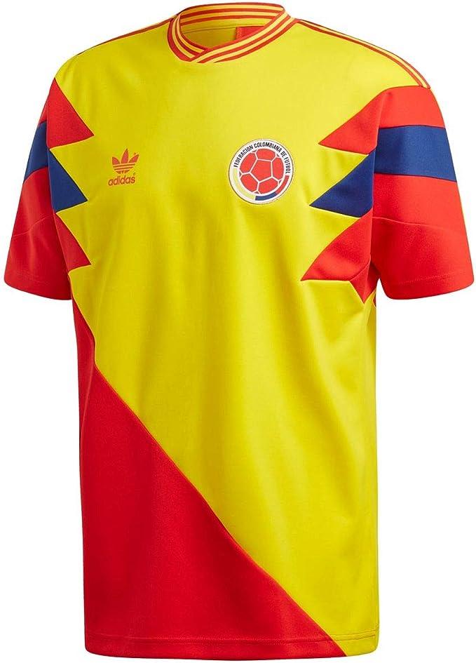 adidas T Shirt Colombia Mashup JauneRougeBleu Taille: L