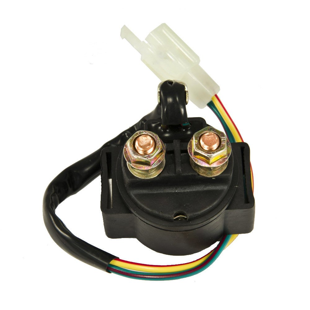 61fenYOiCuL._SL1000_ amazon com new starter solenoid relay honda 1800 gl1800 goldwing Ford Starter Relay Wiring Diagram at bayanpartner.co