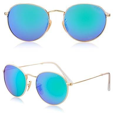 Amazon.com: Kodoos - Gafas de sol unisex con espejo (tamaño ...