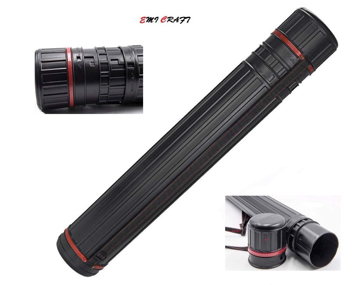 EMI Craft Tubo de Transporte Negro Longitud Regulable de cm 66 a 112 cm, diámetro: 8.5 cm de 6cc9d6