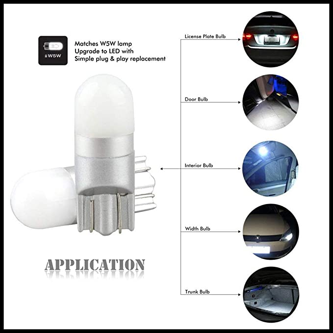 Republe 10PCS T10 Bombilla 3030 1SMD Alto Brillo de 360 ??degreen de luz Blanca de la Placa del carnet de luz LED: Amazon.es: Coche y moto