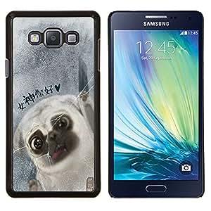 - Pug Dog PUPPY Pet - - Cubierta del caso de impacto con el patr??n Art Designs FOR Samsung Galaxy A7 Queen Pattern