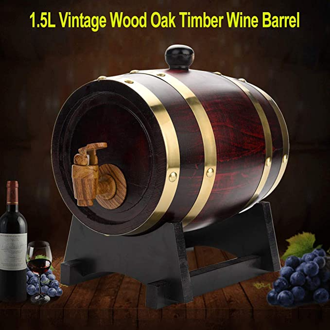 Mitrc Barril de Vino de Whisky, dispensador de Vino de Roble ...
