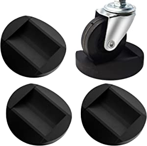 Furniture Wheel Caster Cups - Bed Stopper Furniture Stopper, 4 Pack Premium Rubber Caster Cups Furniture Cups Fits to All Floors & Wheels of Furniture, Sofas, Beds, Chairs, Prevents Scratches