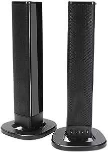 Altavoces Bluetooth Plegable Desmontable De Bluetooth Altavoces Estéreo Barra De Sonido 2000mAh TF Tarjeta U Disco De Doble Altavoz De Bluetooth (Color : Negro, tamaño : 49 x 5 x 5cm): Amazon.es: Hogar