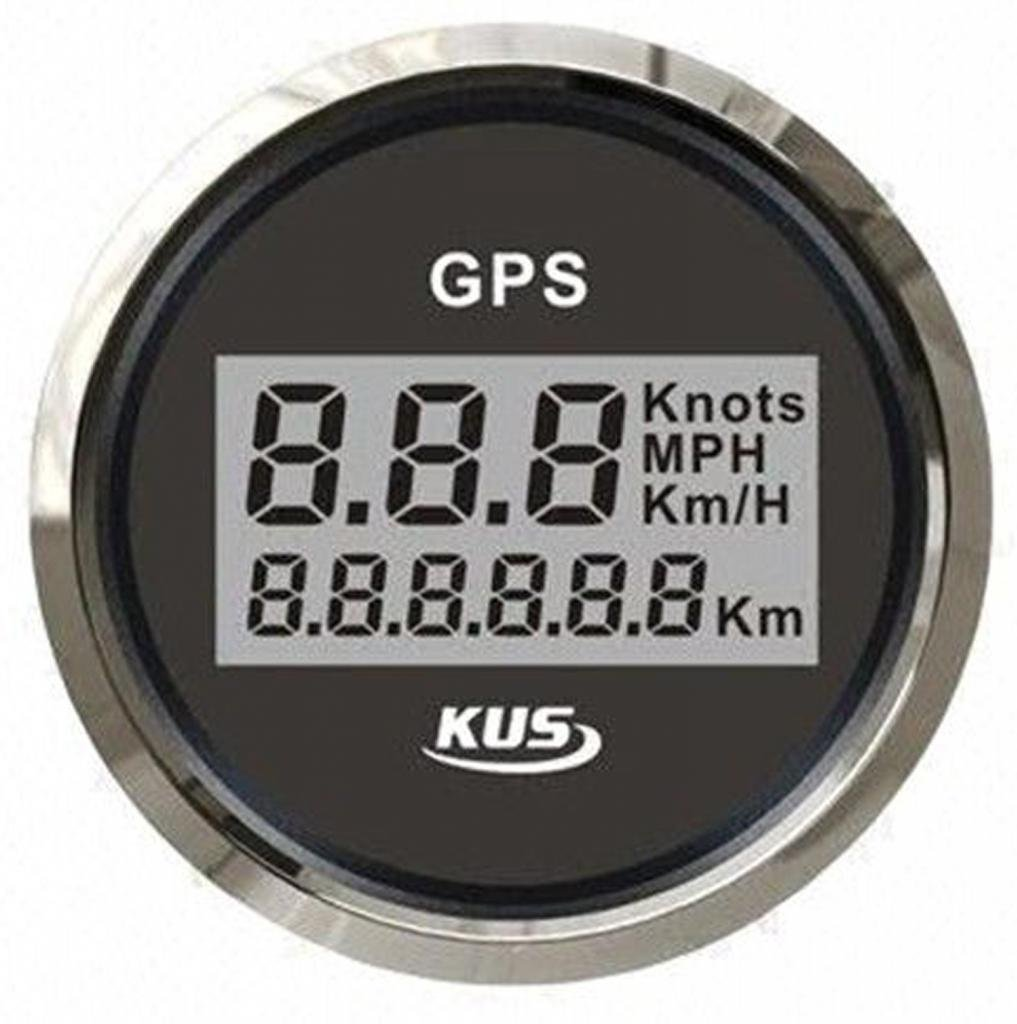 Black Digital GPS Speedometer 85mm with GPS Antenna for Boat Knots Mph km/h 000-000-014
