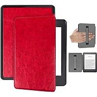 Capa Kindle 10ª geração com iluminação embutida – Auto Hibernação – Fecho Magnético – Alça leitura - Vermelha