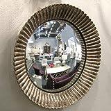 Nuove piccole oro rotondo convesso specchio oblò, 23cm