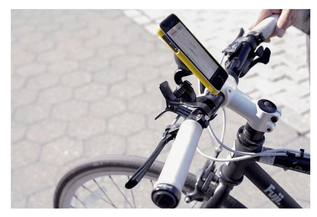 Black US105-BK Kikkerland Bike Phone Holder