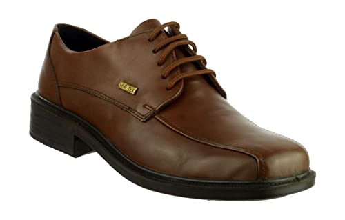 Cotswold Lace-Up Textile/Leather Lined Mens Shoes - Brown - Size 8 UWgu3koi