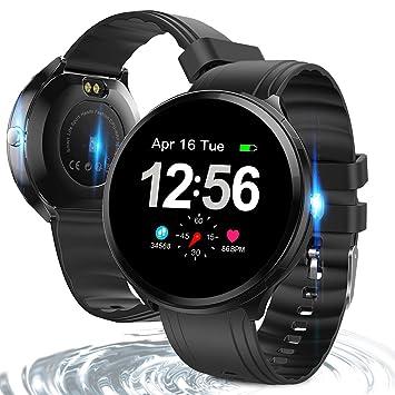 ShellBox Montre Connectée Femmes Homme Enfant Bluetooth Smartwatch Bracelet Smart Sport Fitness Tracker Cardiofréquencemètre Calorie Rappel dappel ...