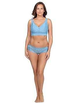 71ccfd15dee0af Parfait P5482 Women s Adriana Sky Blue Lace Non-Wired Longline Bralette   Parfait  Amazon.ca  Sports   Outdoors