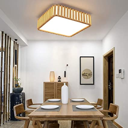 Amazon.com: YZPXDD LED Japanese-Style Bamboo Ceiling Light ...