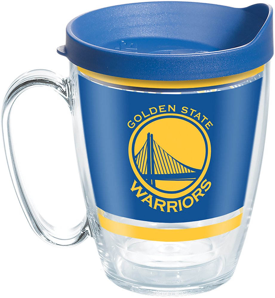 5fa26081743 Tervis 1266545 NBA Golden State Warriors Legend Tumbler with Wrap and Blue  Lid 16oz Mug, Clear