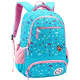 Comfysail Primary School Student Satchel Nylon Kids Backpack Flower Printed Girls Rucksack-Ideal for 1-6 Grade School Students