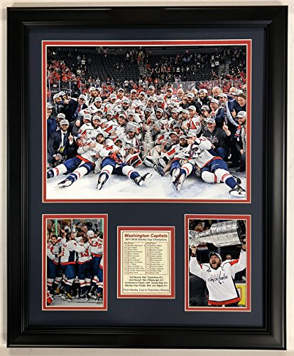 Legends Never Die NHL Washington Capitals 2018 Stanley Cup Framed Double Matted Photos, Celebration, 18
