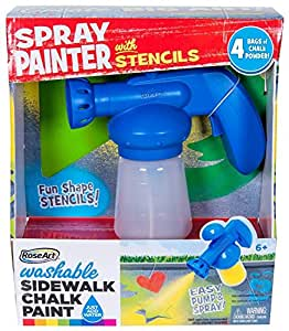 amazon com roseart washable sidewalk chalk spray painter