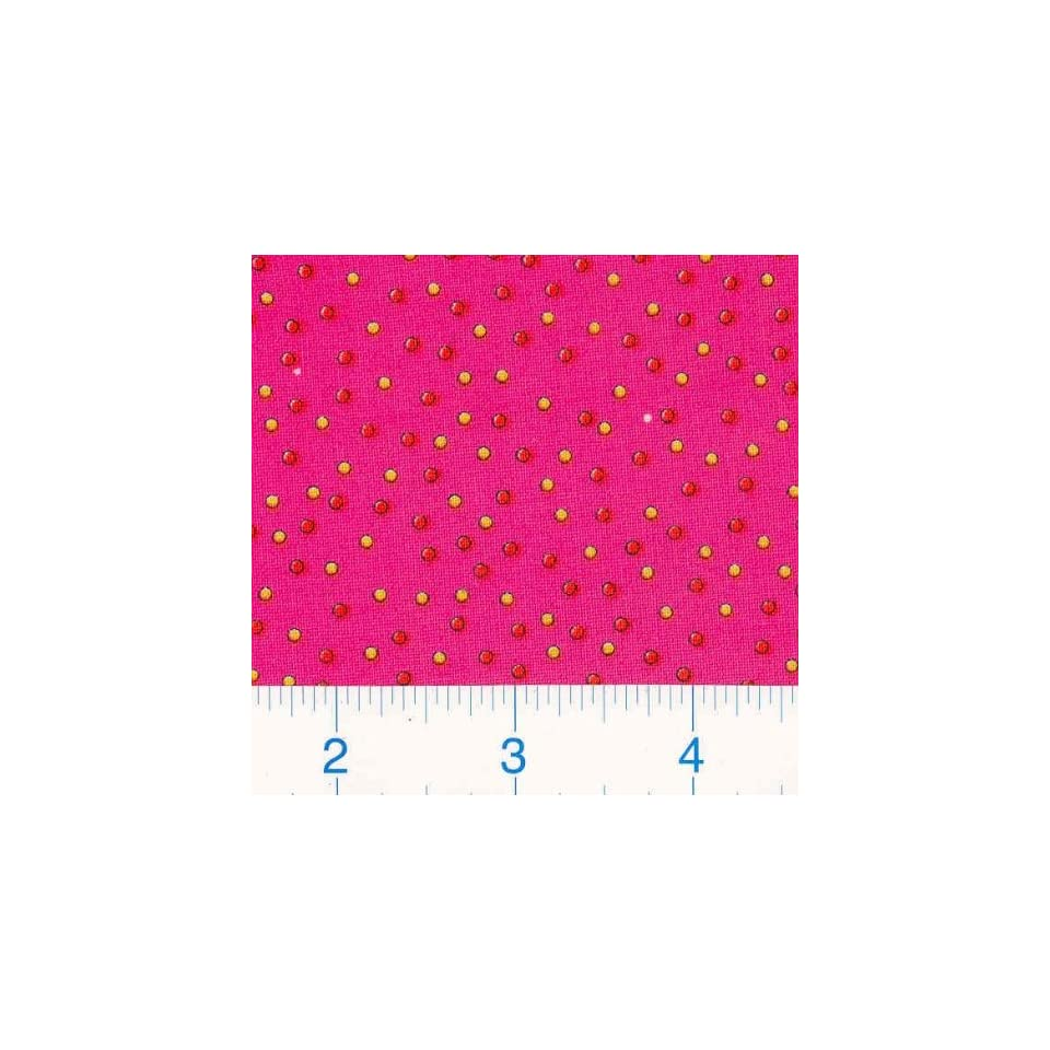 45 Wide Party Dots   Hot Pink Fabric By The Yard