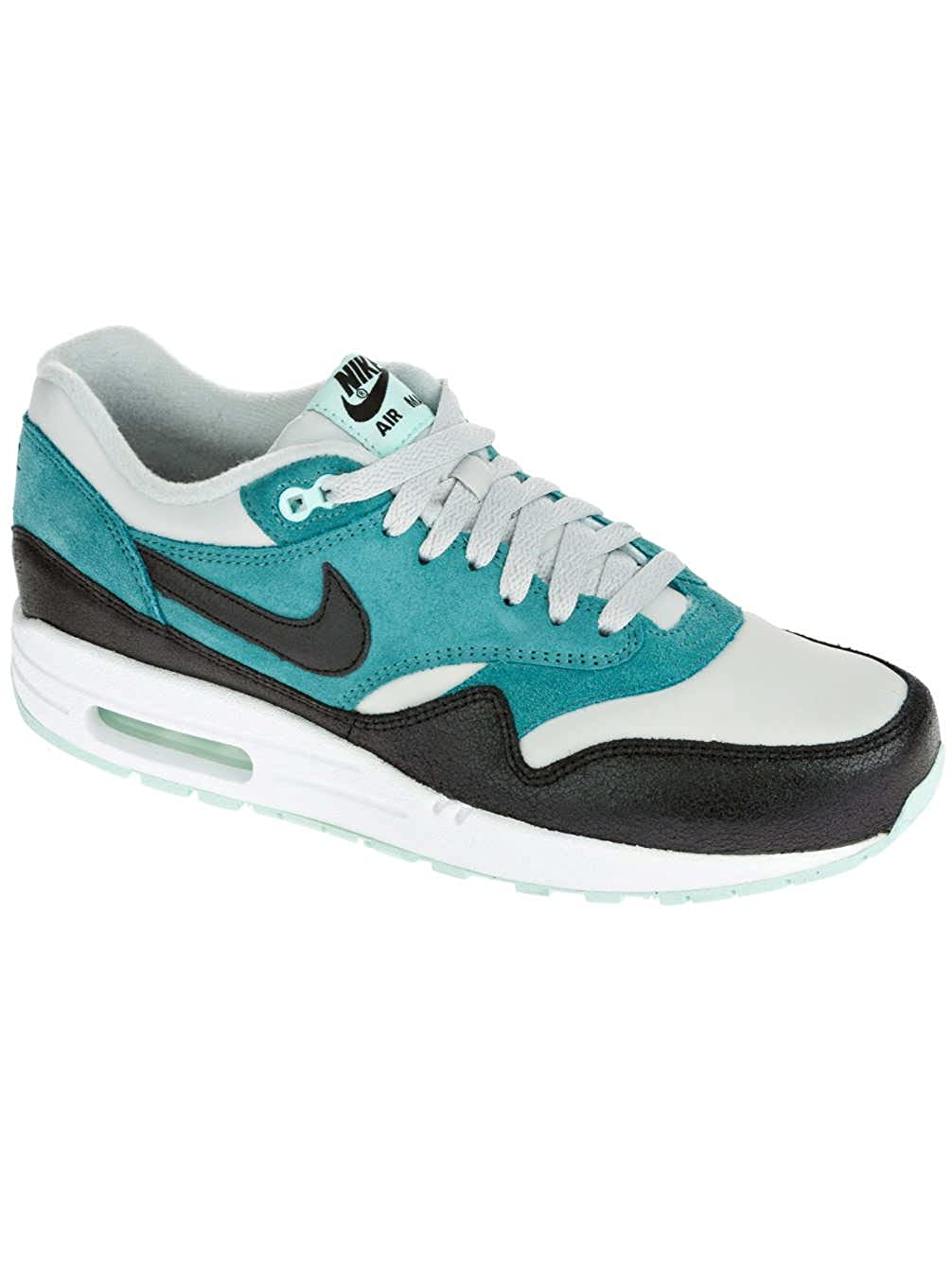 Womens Nike Air Max 1 Essential Dusty GreyBlackMineral Teal 599820 002 UK 6