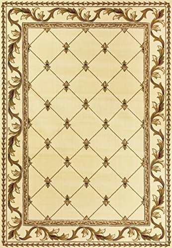 KAS Oriental Rugs Corinthian Collection Fleur-De-Lis Border Area Rug, 5'3
