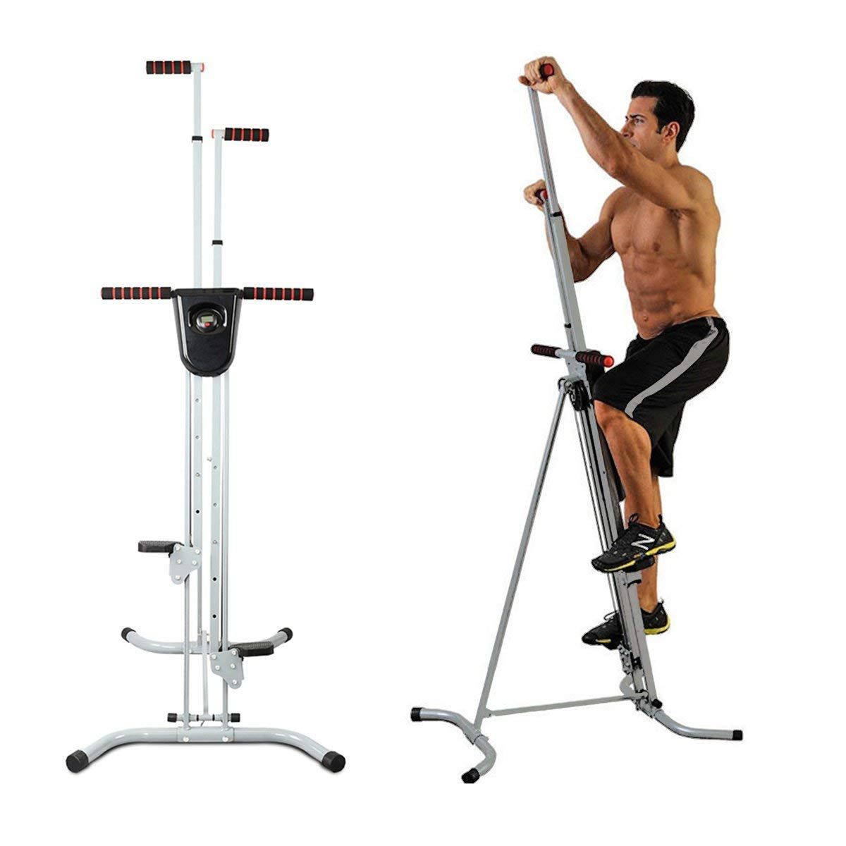 Apelila Vertical Climber, Climbing Machine - Total Body Workout Fitness Folding Cardio Climber Exercise Machine,with LCD Monitor for Home Gym Fitness by Apelila