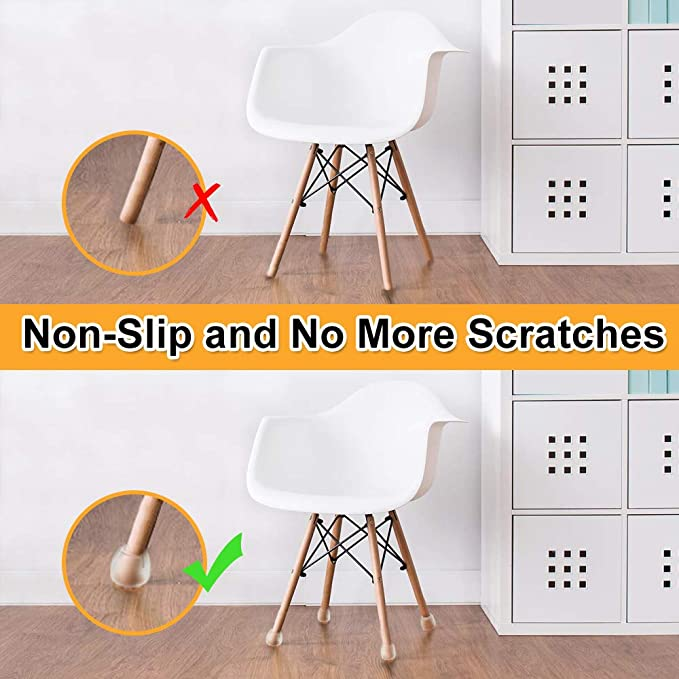 Prevents Scratches and Noise Without Leaving Marks Chair Leg Caps ...