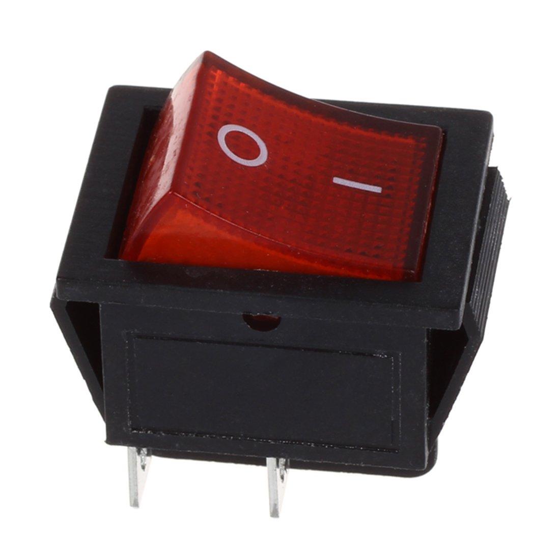 REFURBISHHOUSE 1 x basculeur//interrupteur /à bascule ON//OFF Rouge et noir 4 broches 15A//250V 20A//125V AC 28x22mm