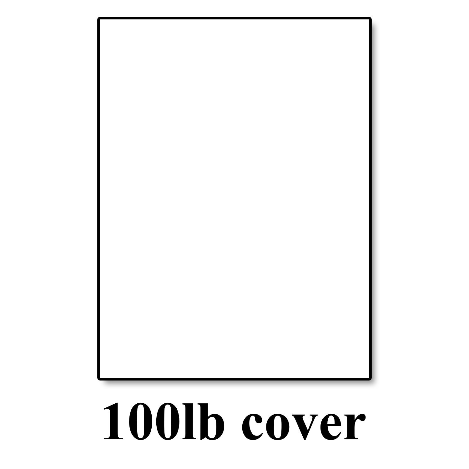 Hamilco White Cardstock Thick Paper - 8 1/2 x 11'' Blank Heavy Weight 100 lb Cover Card Stock - for Brochure Award and Stationery Printing (50 Pack)