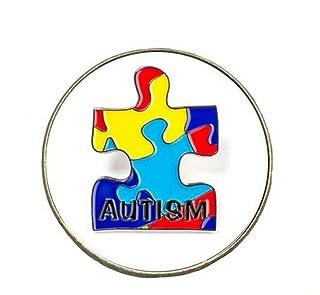 Upstudio Distintivi di Gioielli di novità Distintivo di Pulsante di Spilla Rotondo Lega Creativa autismo (colorato)