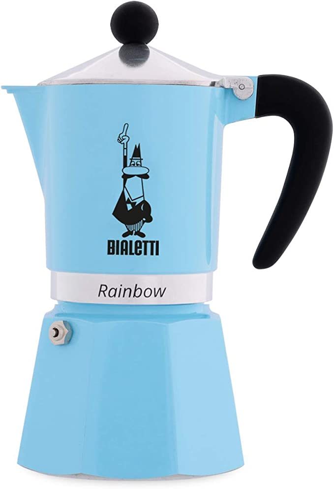 Bialetti Rainbow Cafetera Italiana Espresso, 3 Tazas, Aluminio, Azul: Amazon.es: Hogar