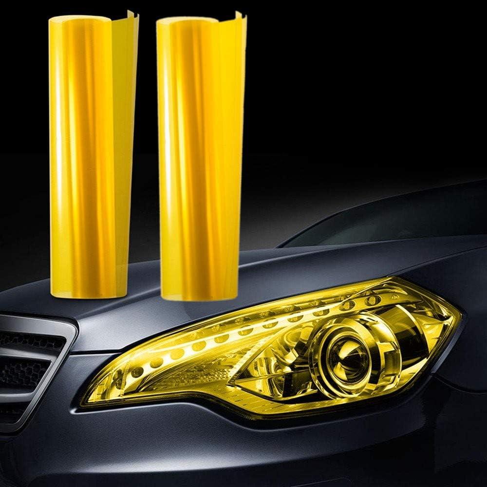 Jzk 30cm X 200cm Auto Licht Tönungsfolie Scheinwerfer Rückleuchten Nebelscheinwerfer Lampen Folie Aufkleber Gelb Auto