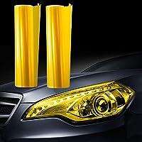 JZK 30 cm x 200 cm auto licht getinte folie koplamp achterlichten mistlampen folie sticker geel