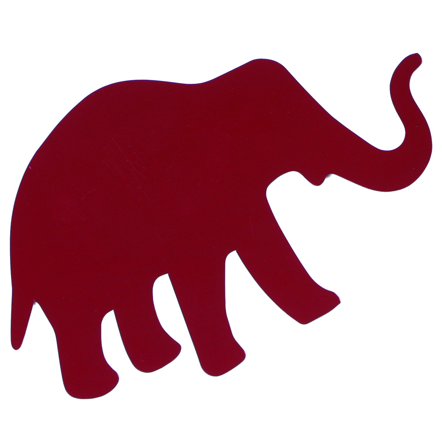 Metallic Shape - ELEPHANT 5' size (15 Pcs) or 2.5' size (25 Pcs) in 12 Metallic Colors (Also Available in Paper) #6243