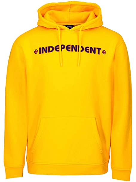 Independent Sudadera con Capucha Infantil Bar Cross Amarillo: Amazon.es: Ropa y accesorios