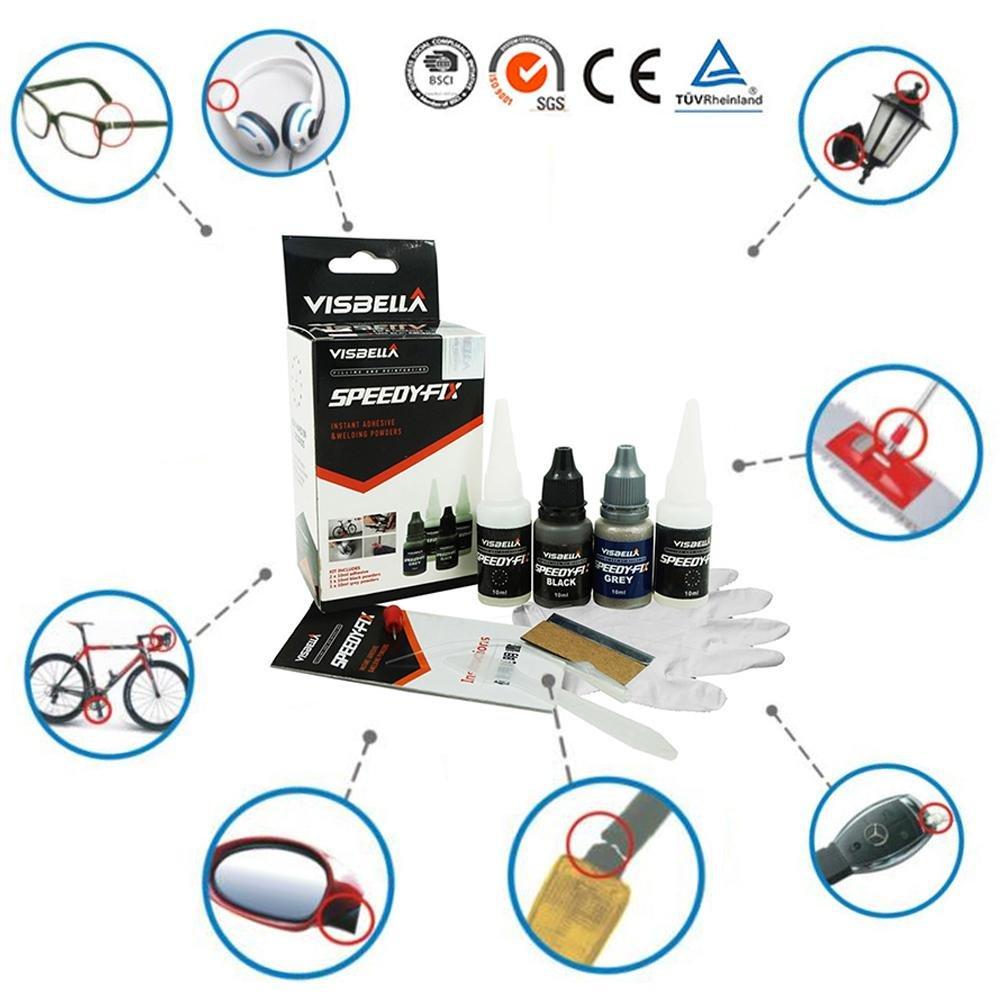 true-ying 7 Second Quick Bonding Automotive lucidatura vernice adatto per tutti gli usi adesivi e sigillanti/Strong adesivi. Veloce di fissaggio colla multiuso senza solvente colla riparazione veloce asciutto