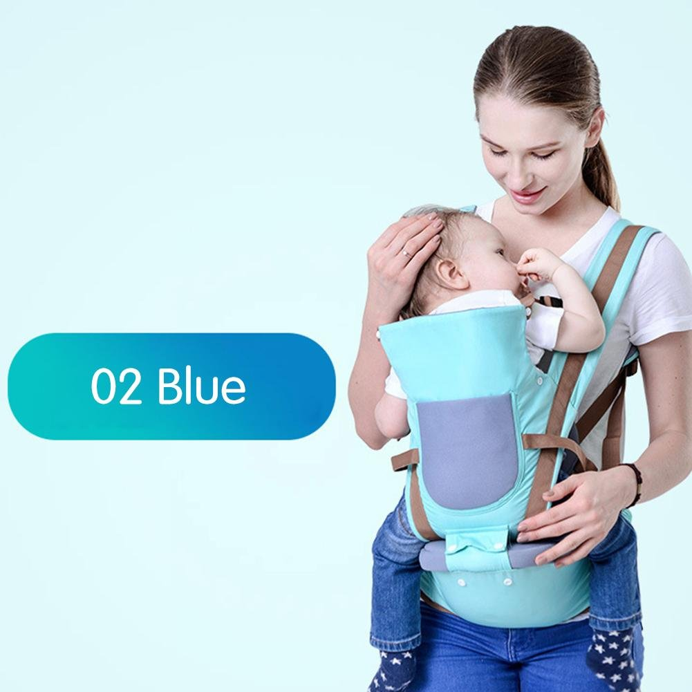 ZHUOTOP Adjustable Babylab Baby Strap Baby Carrier Backpack Children Kids Holding Strap Blue