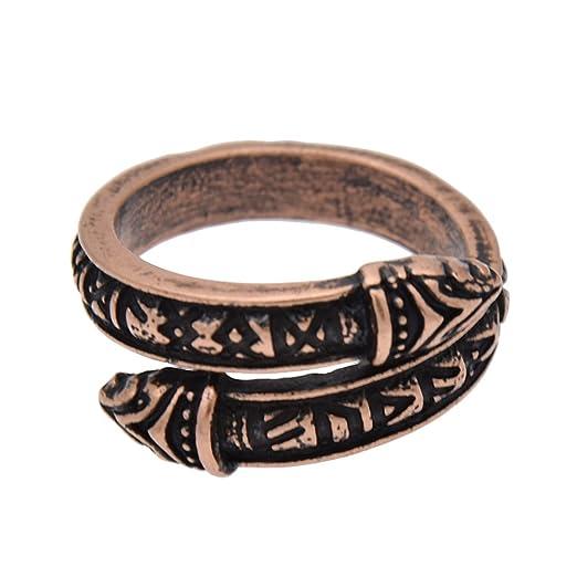 Ynuth Ring Ringe Ring Form Drache Viking Rune Runen Wikinger Schmuck