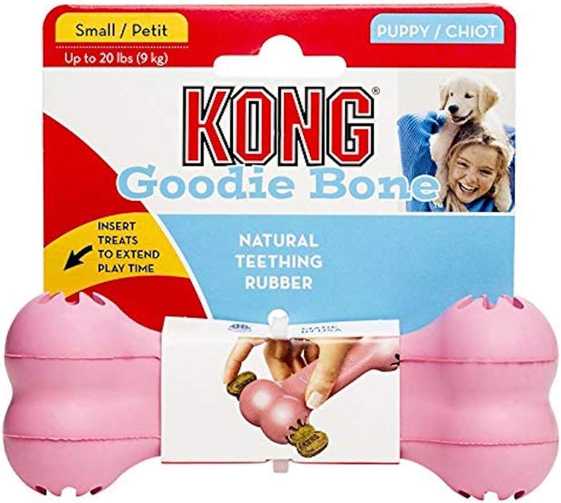 Kong Puppy Kong Goodie Bone Spielzeug Knochen und Leckerli