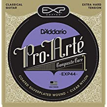 D'Addario EXP44 Coated Classical Guitar Strings, Extra Hard Tension
