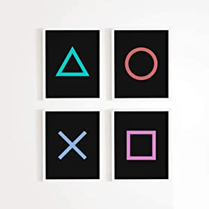 Game Room Decor – Xbox / Playstation Gaming Posters - Set of (4) - Gamer Decor - Video game posters 11 x 17 Size (Playstation)