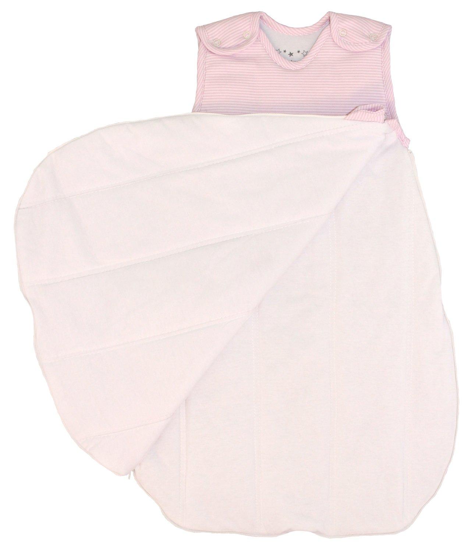 100/% cotton Baby Sleeping Bag Pink Stripes 10-24 mos Wearable Blanket 2.5 Tog Medium Winter Model