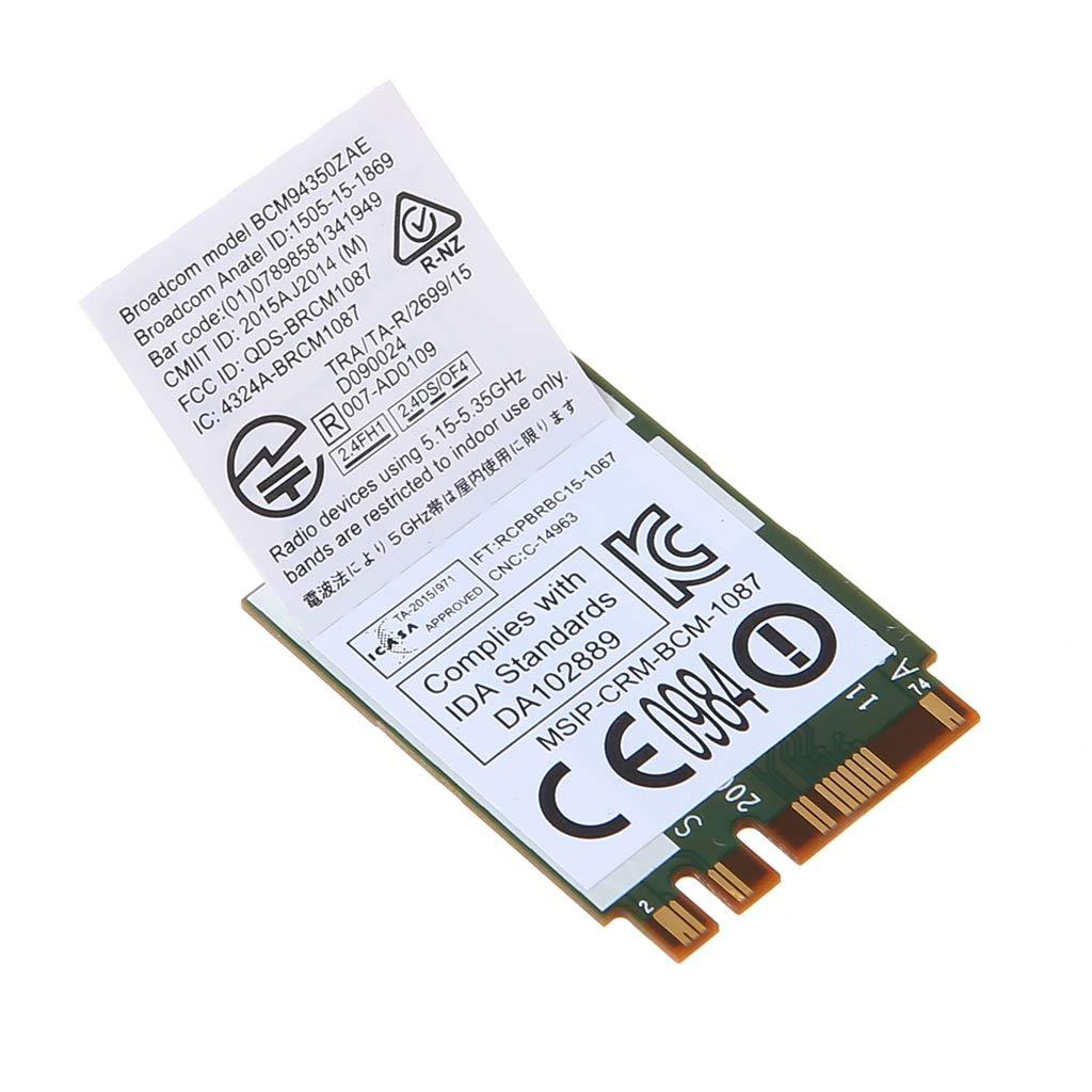 Scheda WiFi Wireless DW1820A BCM94350ZAE 802.11ac Bluetooth 4.1 867Mbps M.2 NGFF Niklunty Pcie