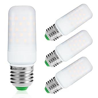 4pcs E27 Led Kerzenlampe Kerze Lampe 8W ersetzt 75W Glühbirne Warmweiß Filament