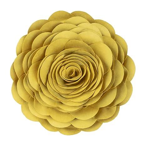 KINGROSE Hecho a Mano 3D Rosas Flores Decorativo Cojín ...